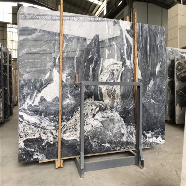 Polished Galaxy Grey Marble Slab