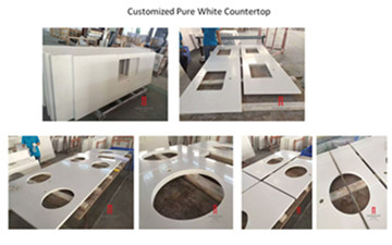Factory Supply Hot sale pure White Quartz Countertop Slab