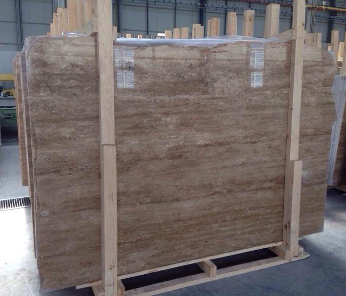 Dark Walnut Travertine Slabs