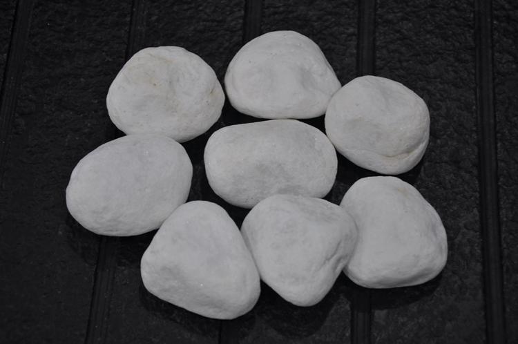 snow white pebble ball stone DL-001