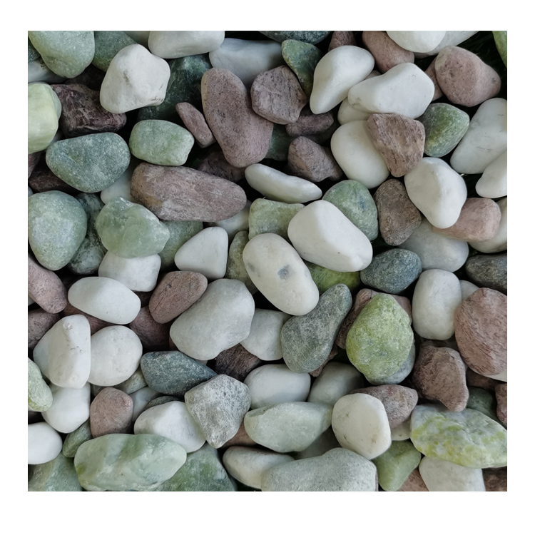 mixed color natural pebble ball stone DL-007