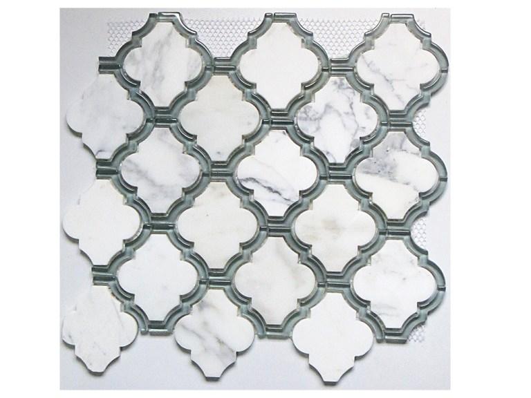 Marble Mosaic Statuario Waterjet