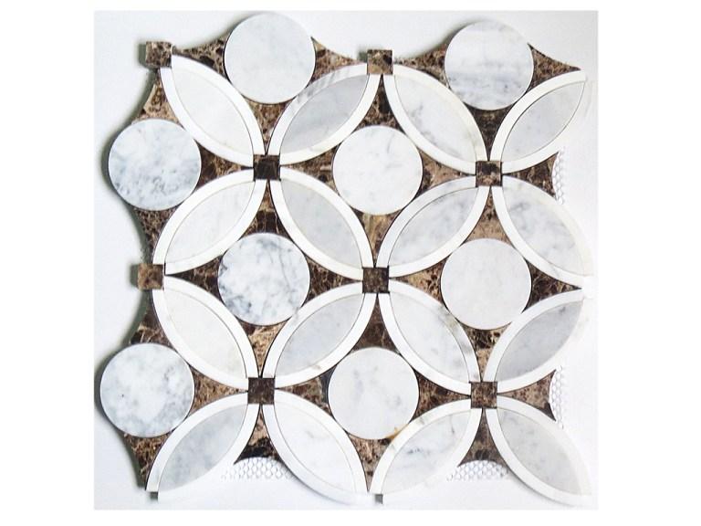 Marble Mosaic Flower Waterjet