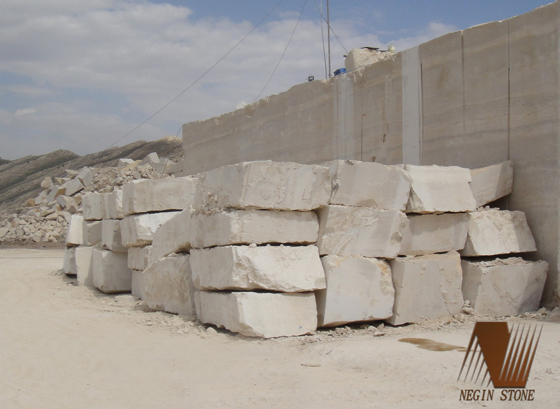 Iran Beige Marble Natural Stone Blocks
