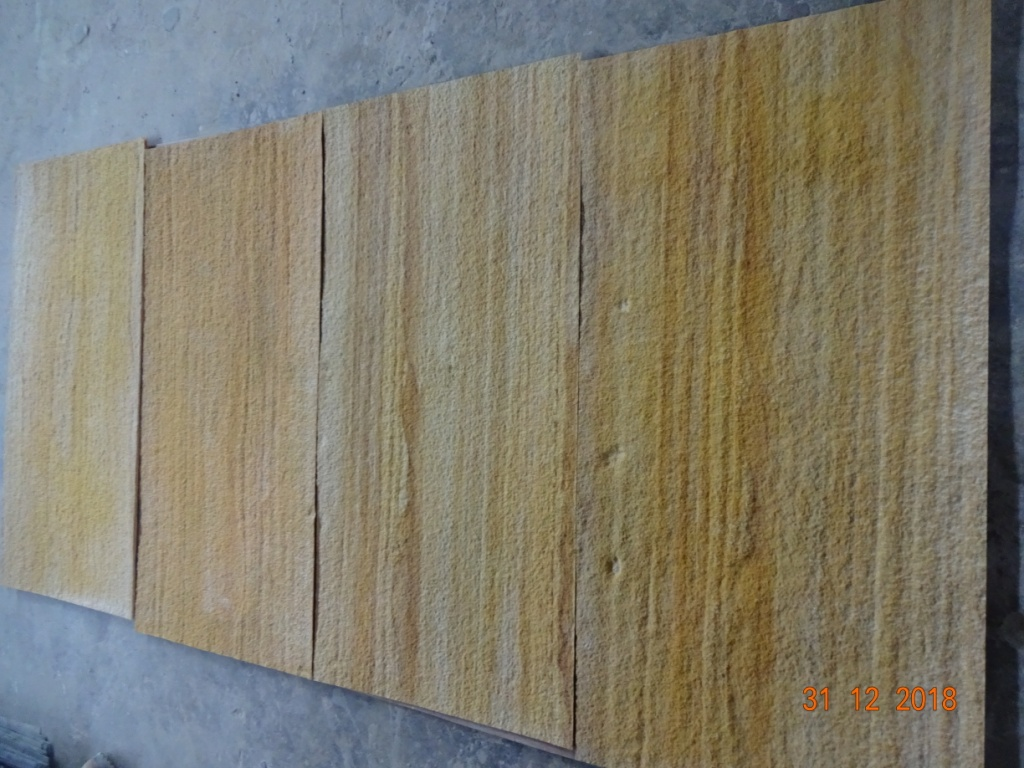 Flexible 1mm Thick stone veneers Teak Sandstone