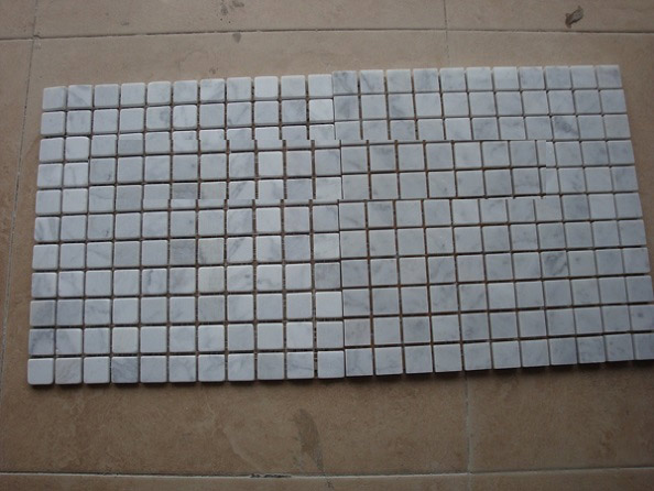 Carrara white mosaic