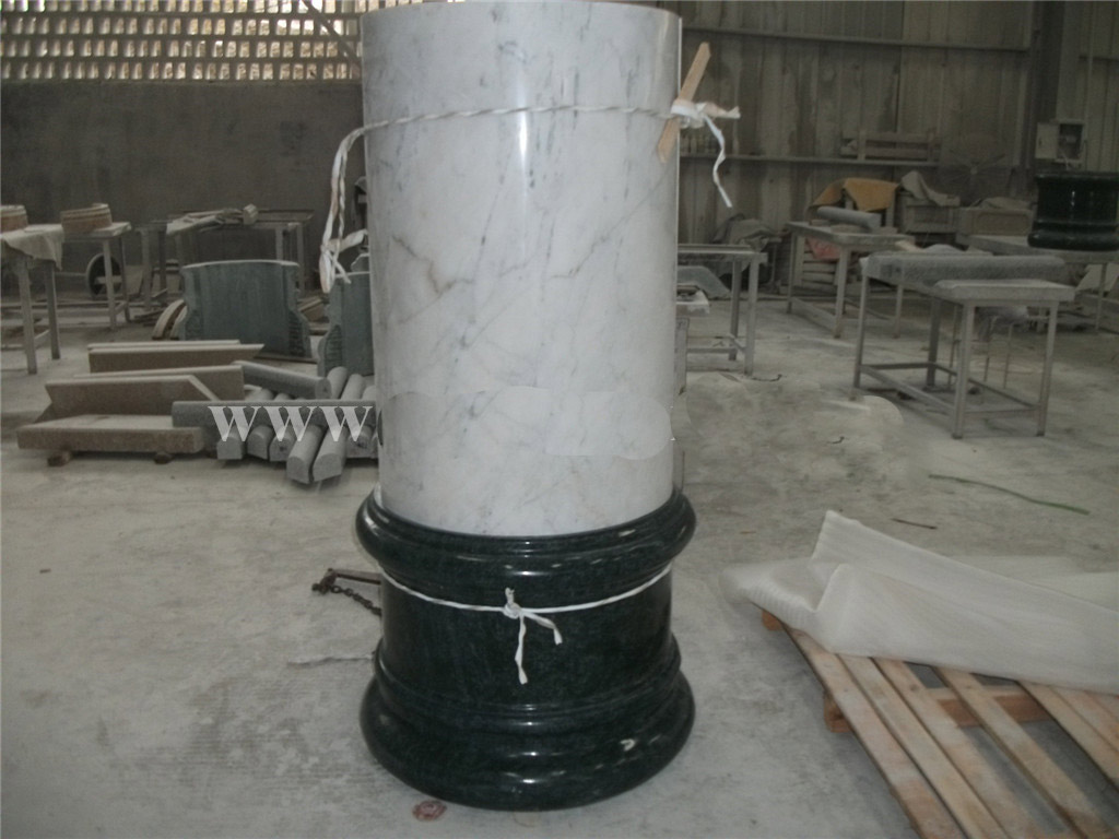 China New White Marble Column