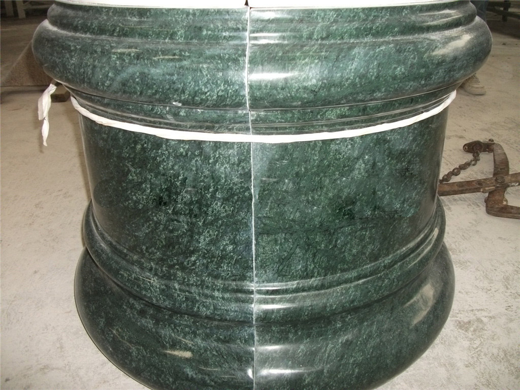 China India Green Marble Column