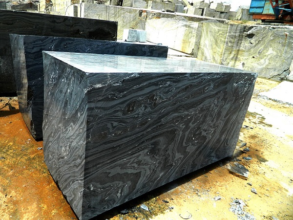 Lava Black Marble Block