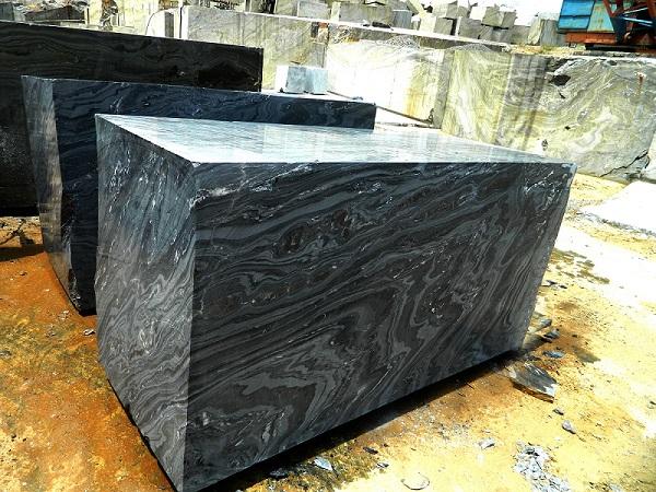 Lava Black Marble Block