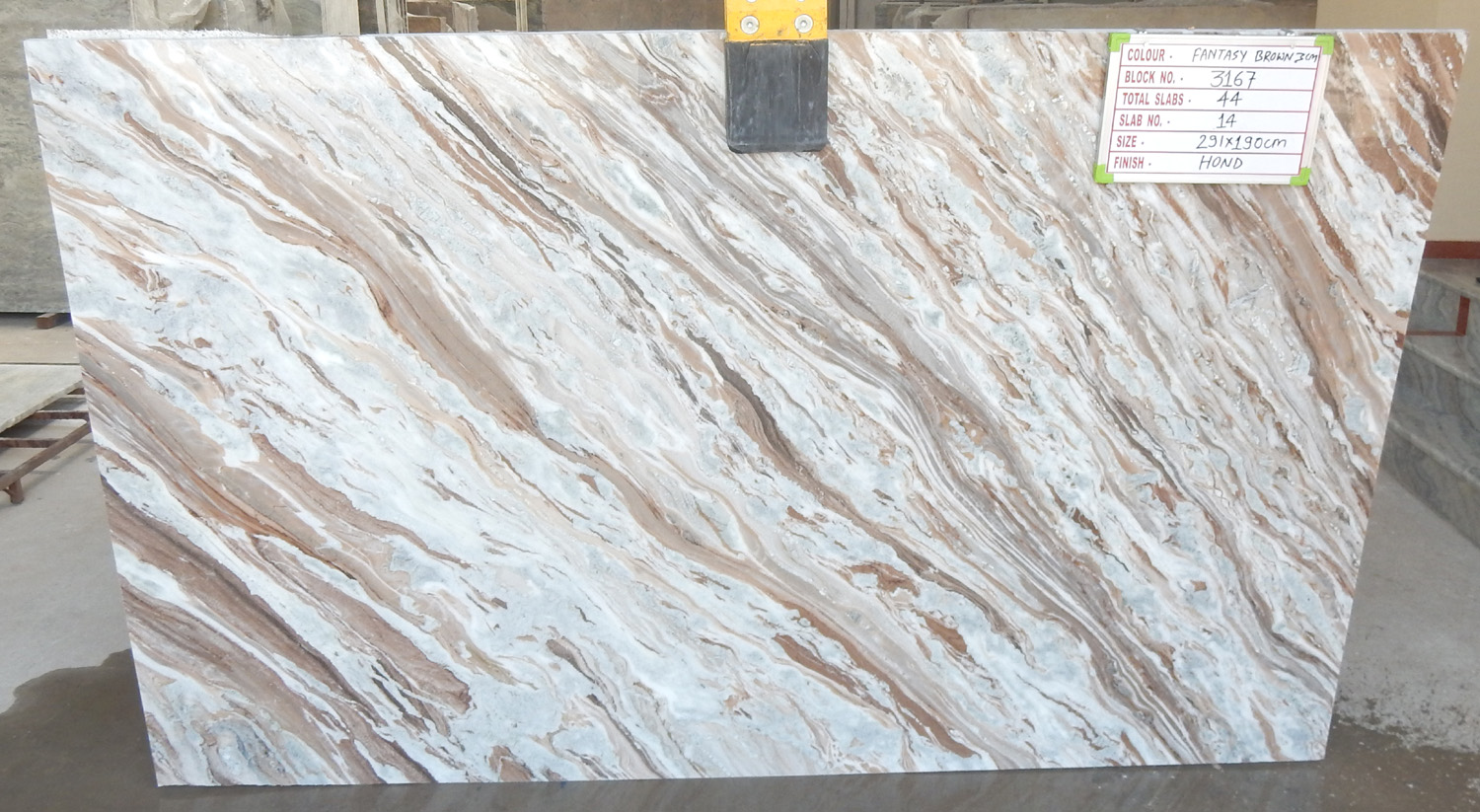 Toronto Brown Indian Polished Marble Slabs