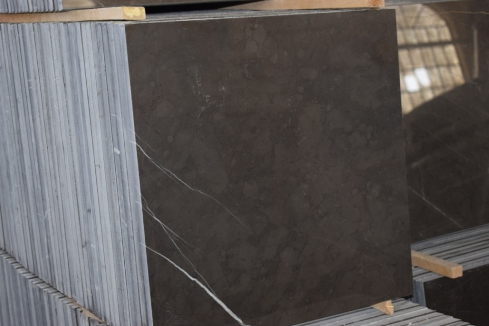 Grey marble block and tile