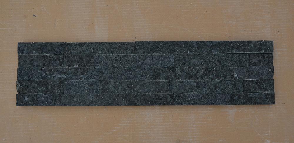 Black marble cultured stone veneer
