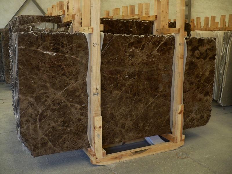 Dark Emperador marble slabs High Standard range