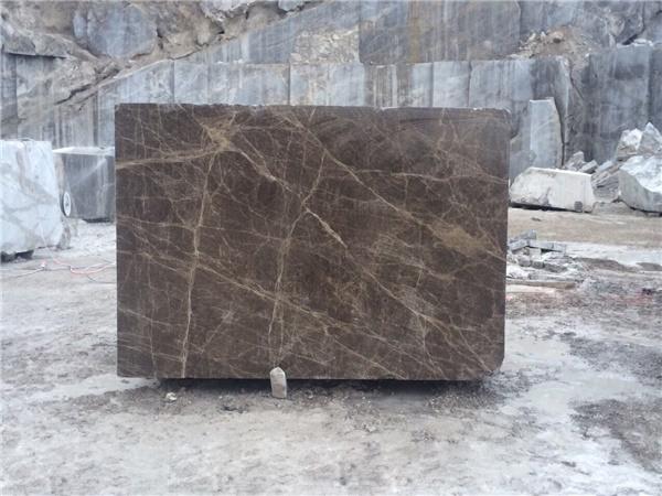 Dark Emperador Marble Block
