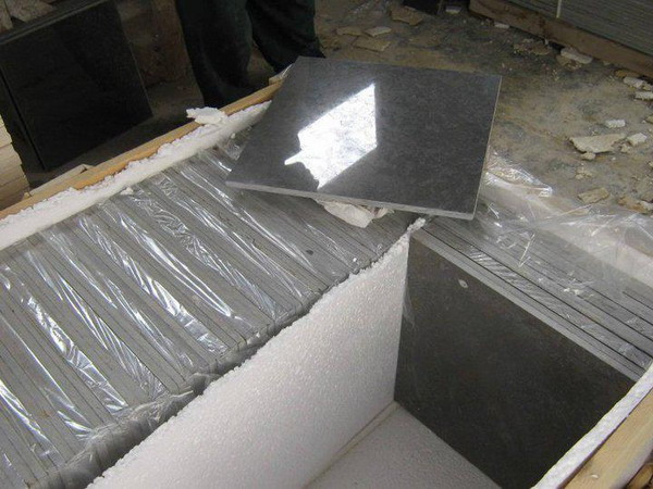 Melly Gray Dark Polished Marble Tiles
