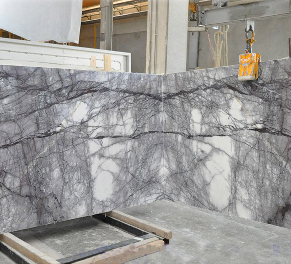 Dark Lilac Marble Slab Bookmatch