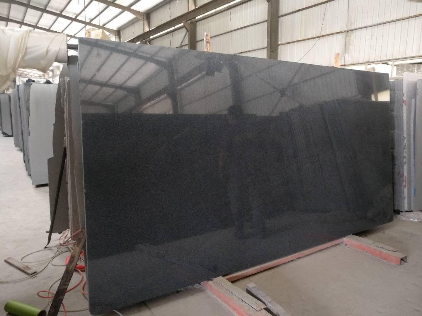 Dark grey granite G654 big slab polished
