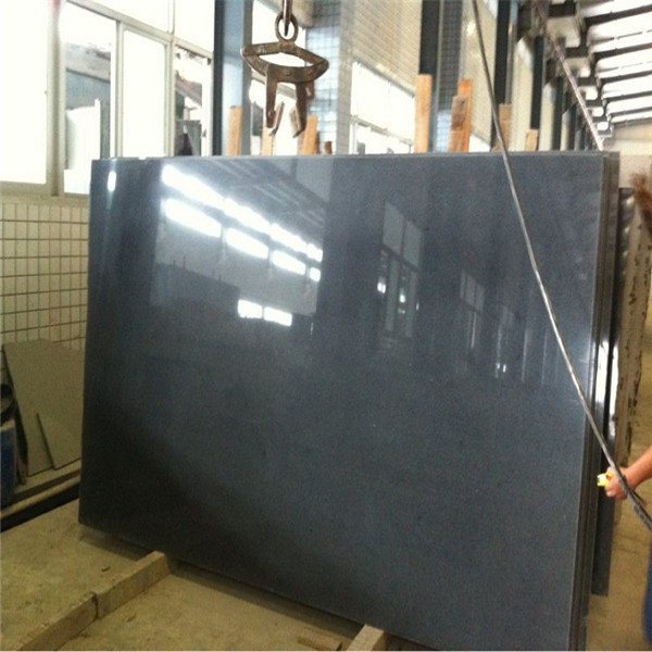 Dark grey polished slab