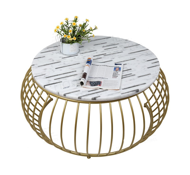 New Style Round White Marble Tabletop