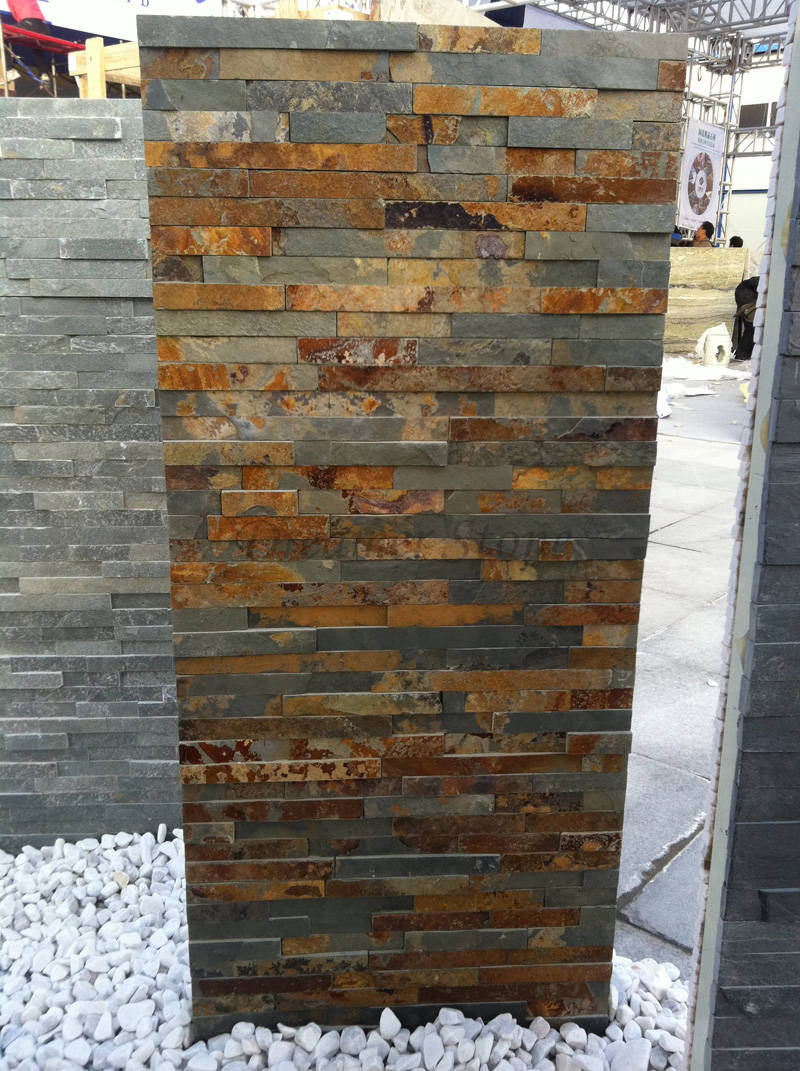 Rusty slate wall deco ledger stone