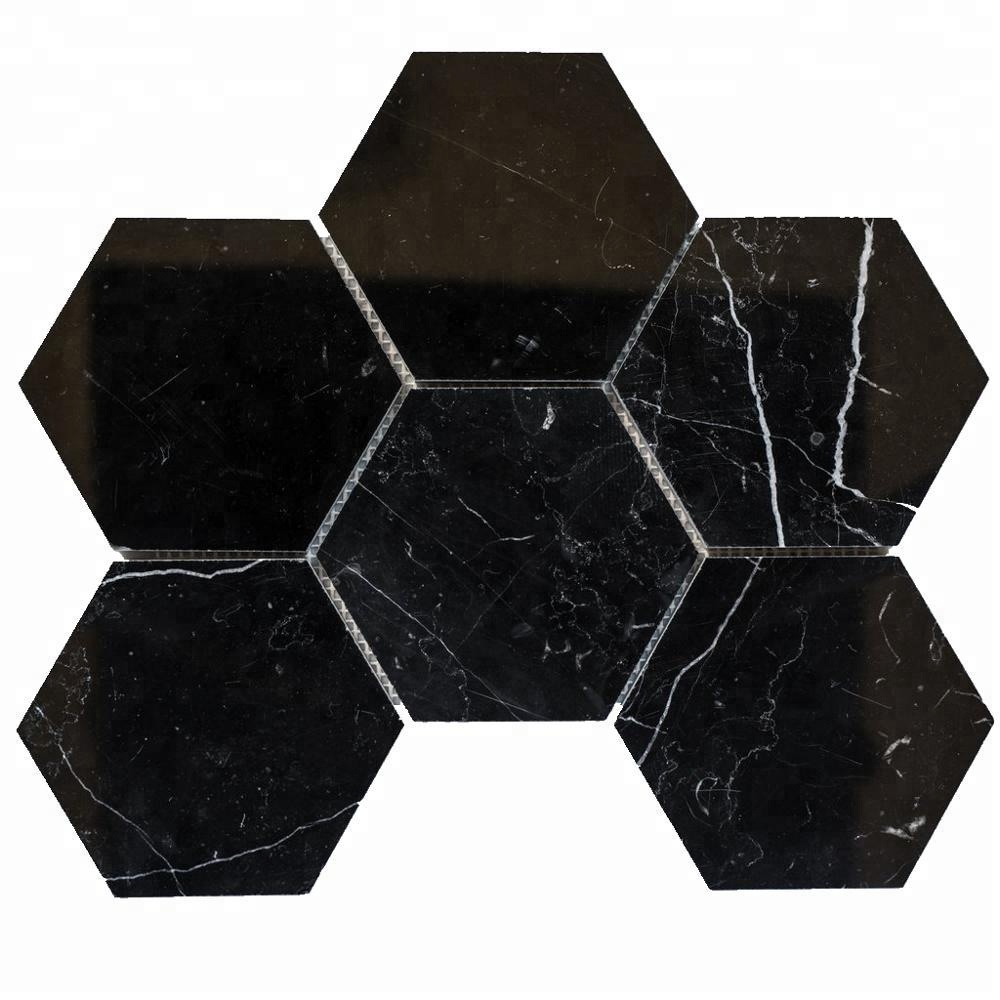 Chinese Nero Marquina Black Marble Tile mosaic