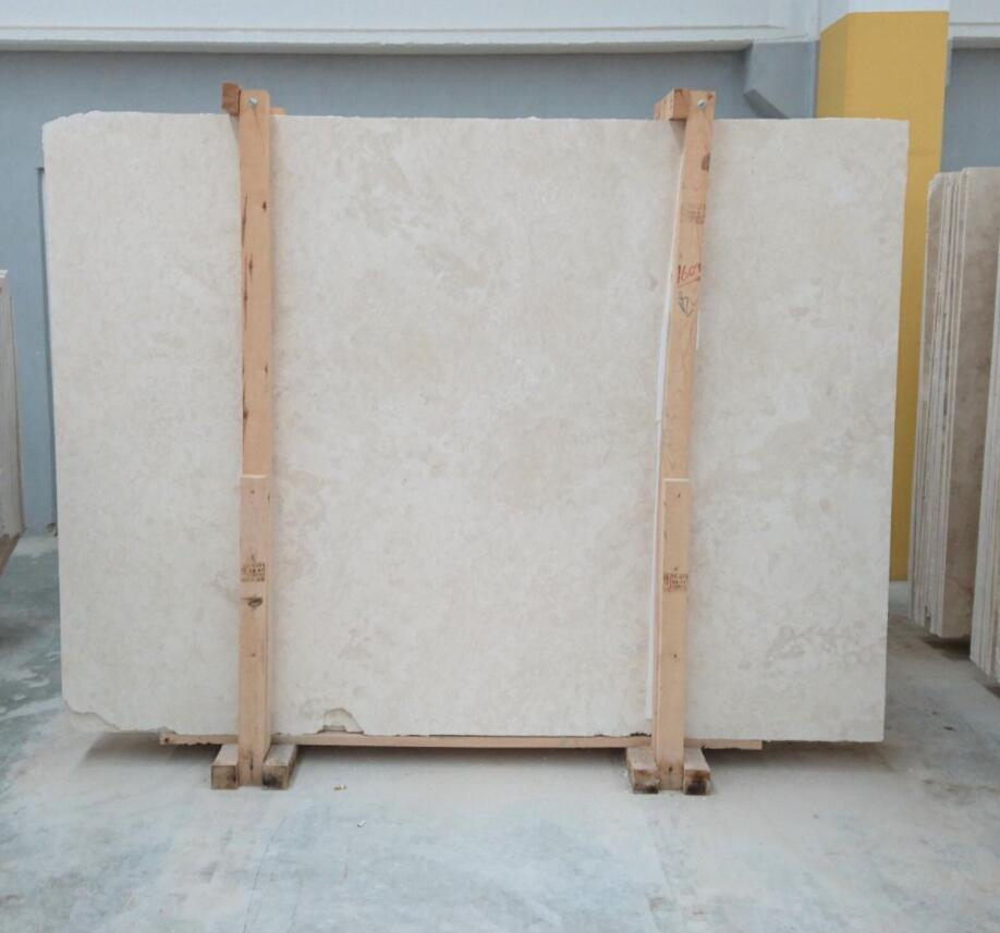 Denizli light travertine slabs