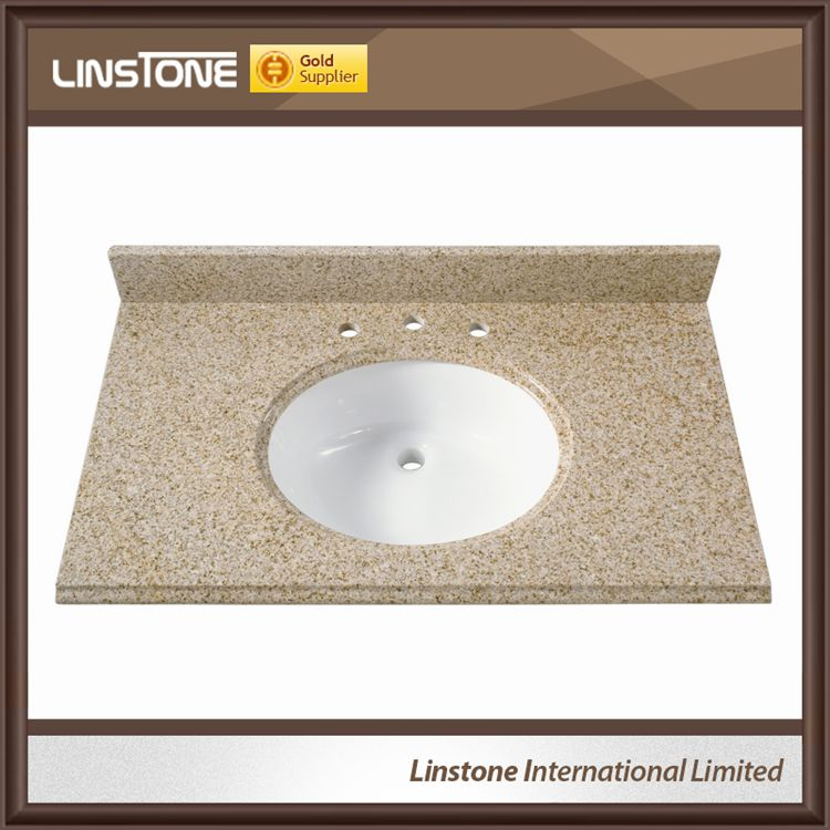 Desert Gold Granite Single Sink Bathroom top