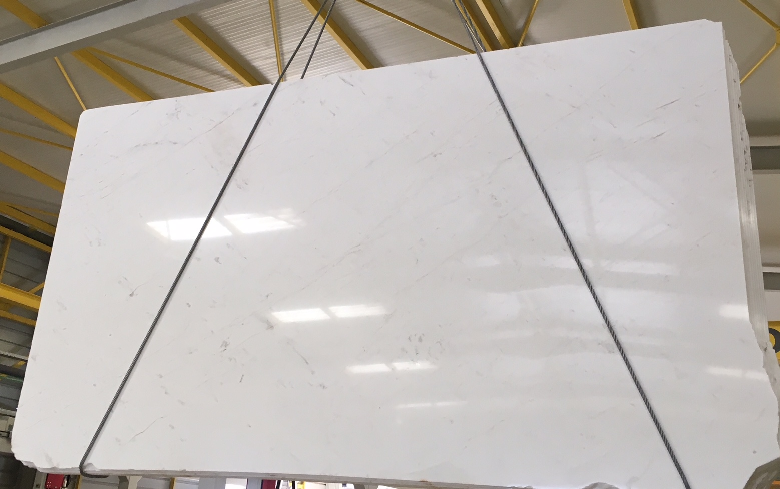 Drama White Polished White Marble Slabs