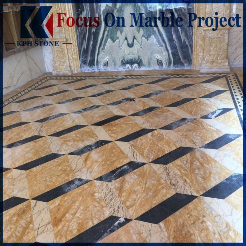 Interior Dubai Golden Marble Tiles