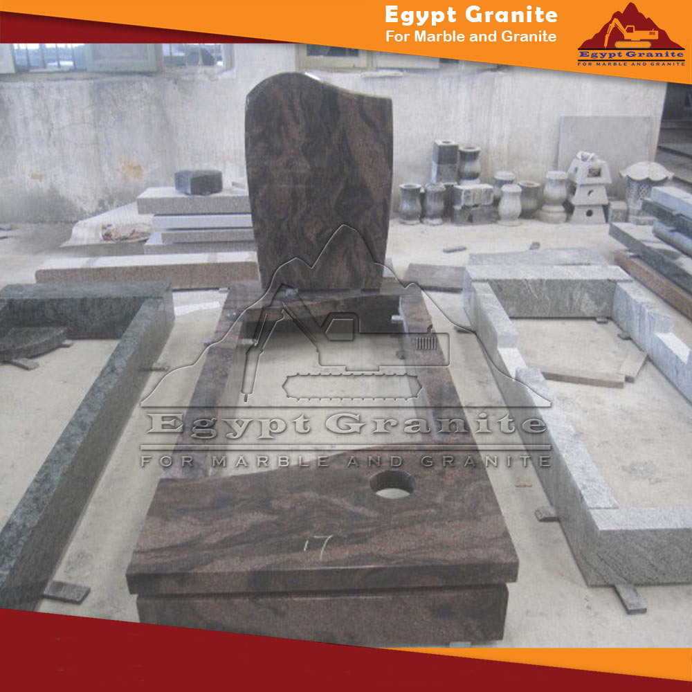 Polished Granite Tombstone