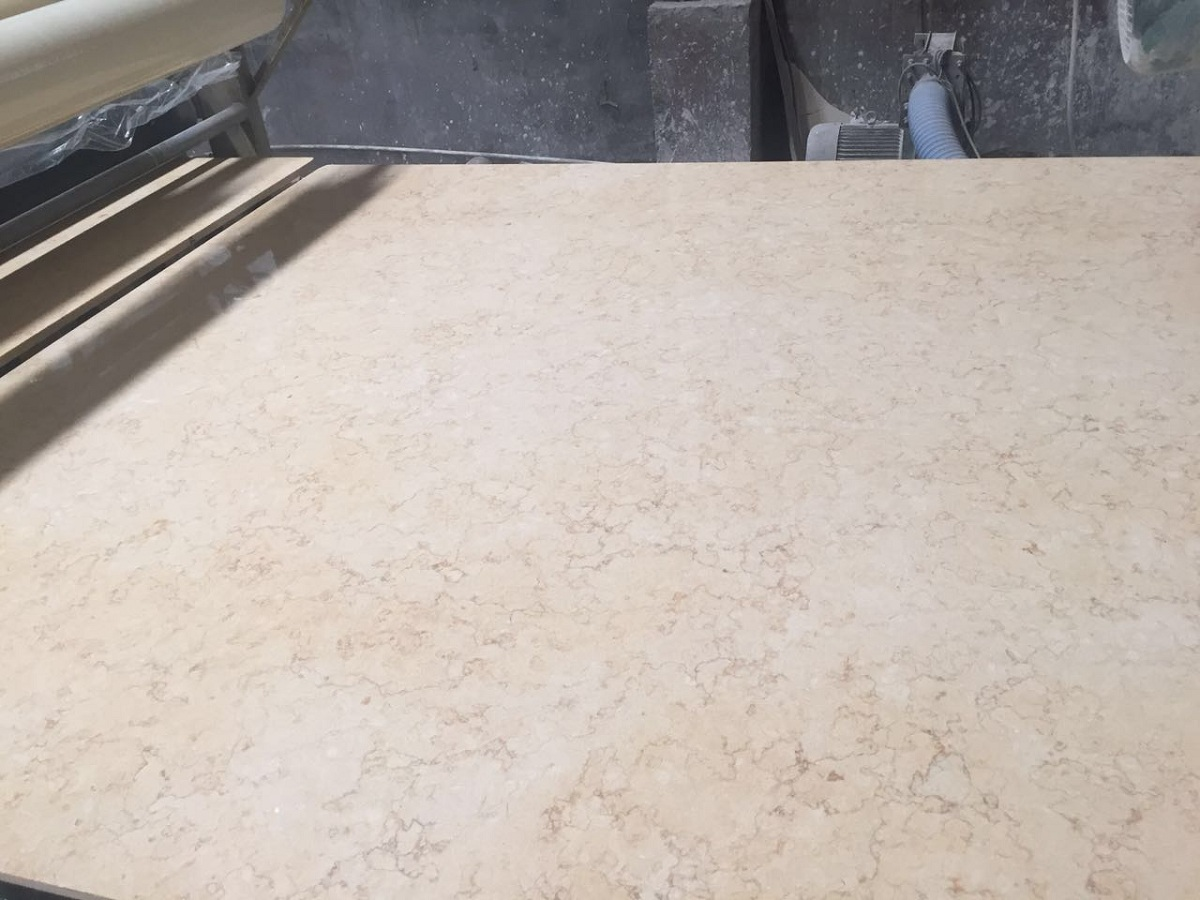 Yellow marble slab