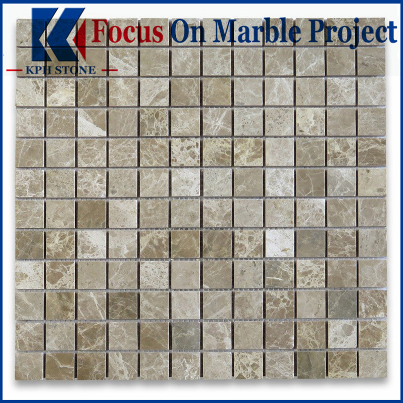 light emperador marble tile mosaic