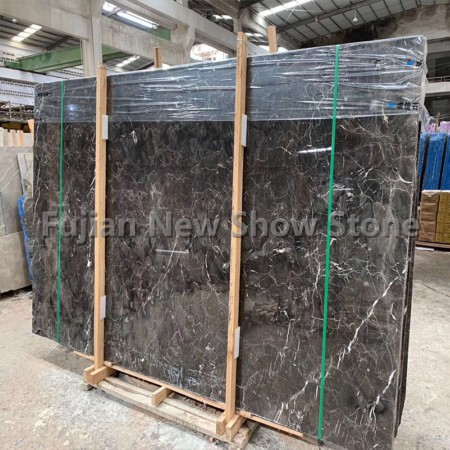 Dark grey emperador marble