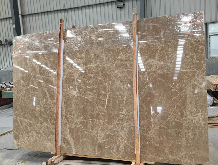 emperador light cedar marble slab