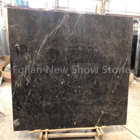 Dark emperador polished marble