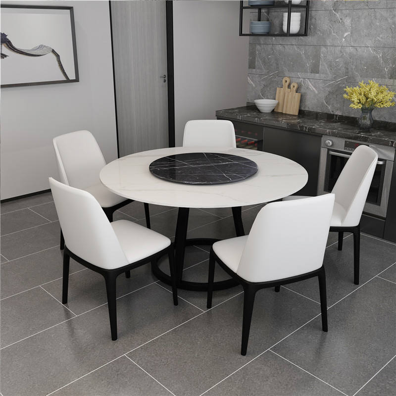 Modern White Marble Tabletop For Dining Room