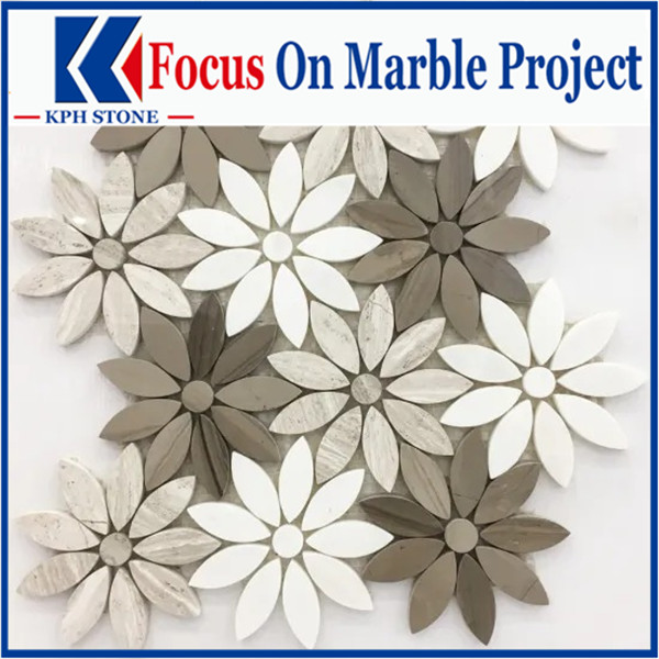 Exquisite flower shapes mosaic