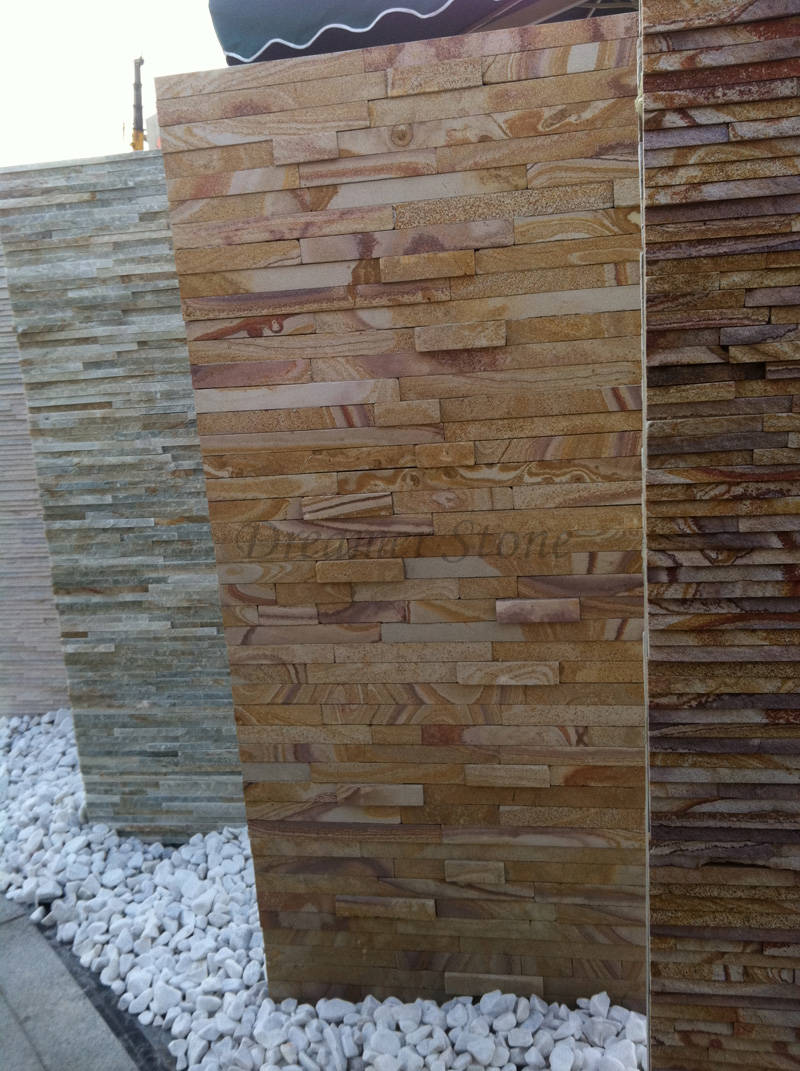 Exterior yellow sandstone wall stone cladding panels