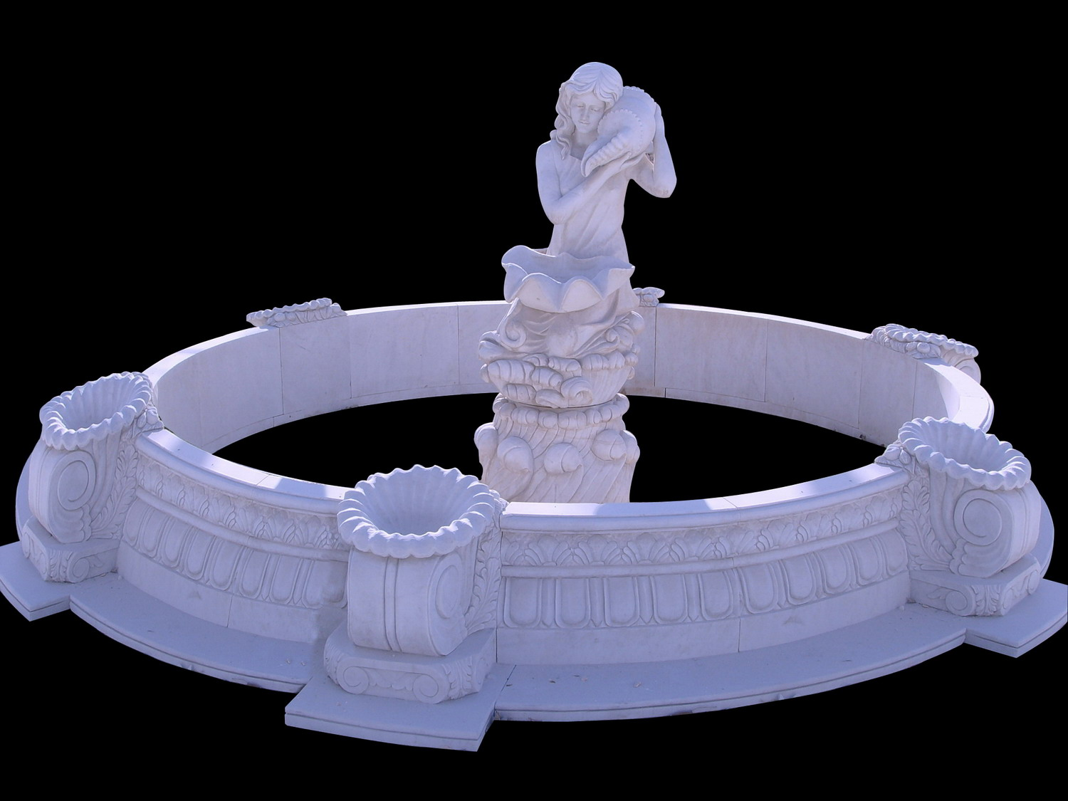 Carved marble Garden Sculpture Water Fountain