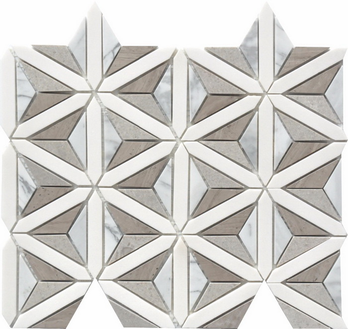 Carrara white Lady grey  Athen grey stone mosaic tile