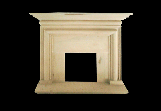India Beige Sandstone Fireplace