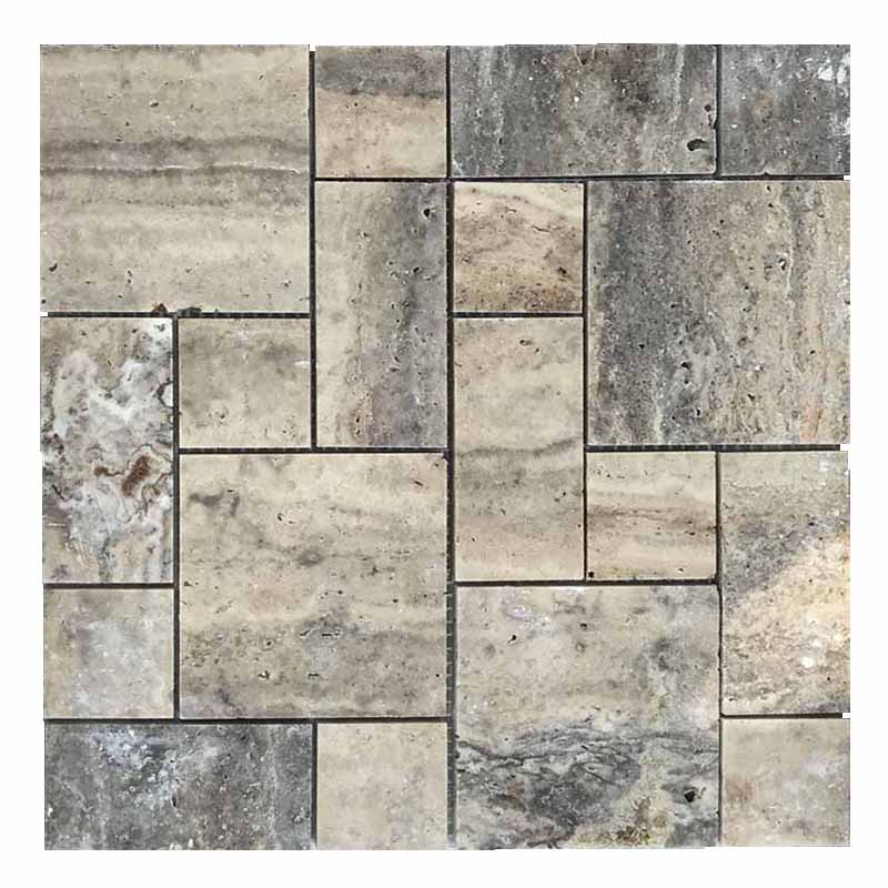 Clound grey travertine french pattern