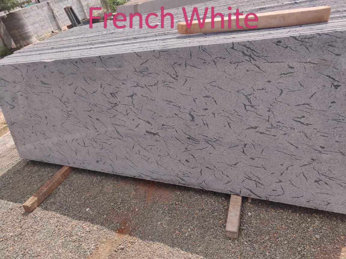French White Granite Slabs Polished White Slabs