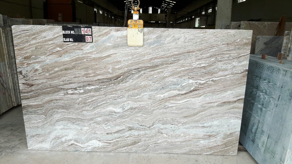 Indian Fantasy Brown Light Marble Slabs