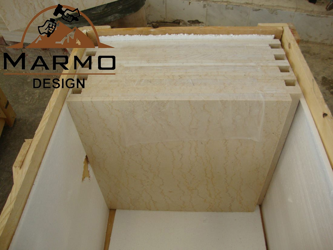Egyptian Feletto Polished Beige Marble Tiles