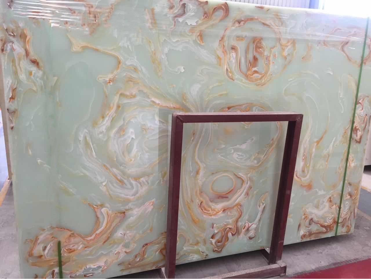Fine green arftificial marble