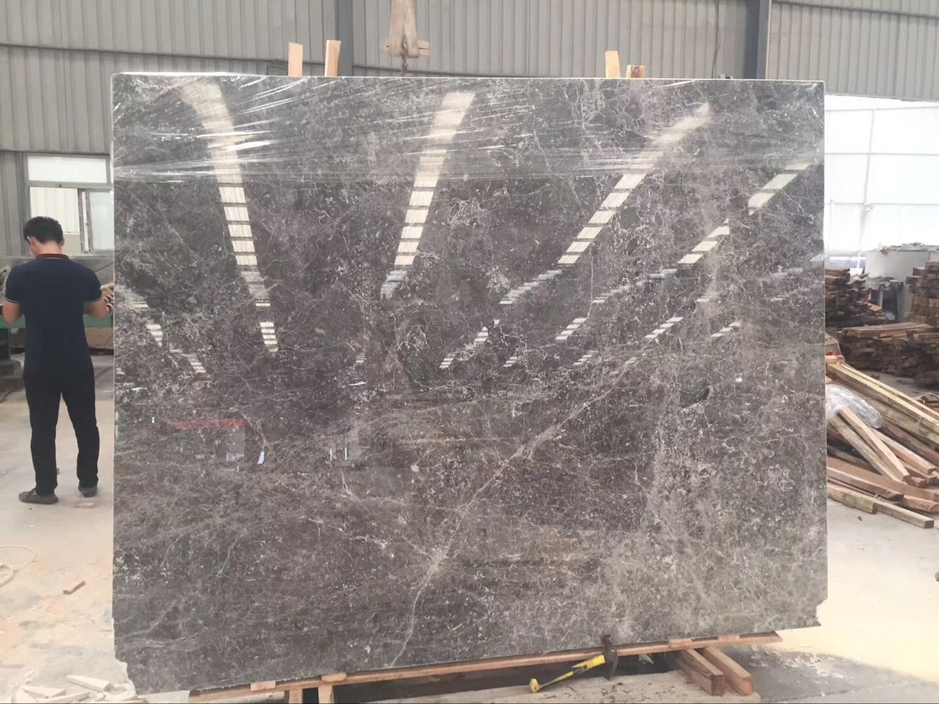 Oscar Grey��Fior Di Bosco Baltic Gray Marble Tundra Blue Marble with Polished Tiles