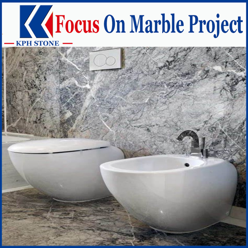 Grey Fleury Marble bathroom vanity tops