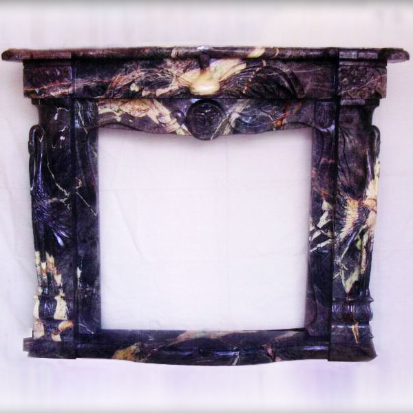 Transitional Style Marble Fireplace